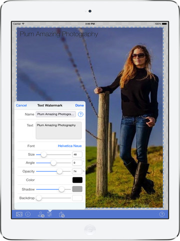 iWatermark+ Watermark App, Photo & Video Batch Watermarking Canon, Save&Share Watermarks Screenshots