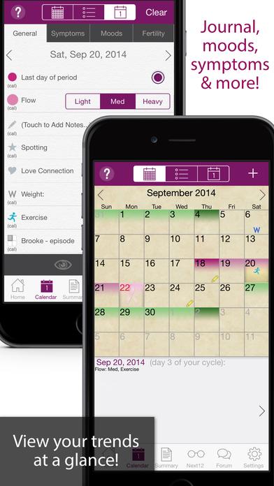 iPeriod Ultimate (Period / Menstrual Calendar) iPhone Screenshot 2