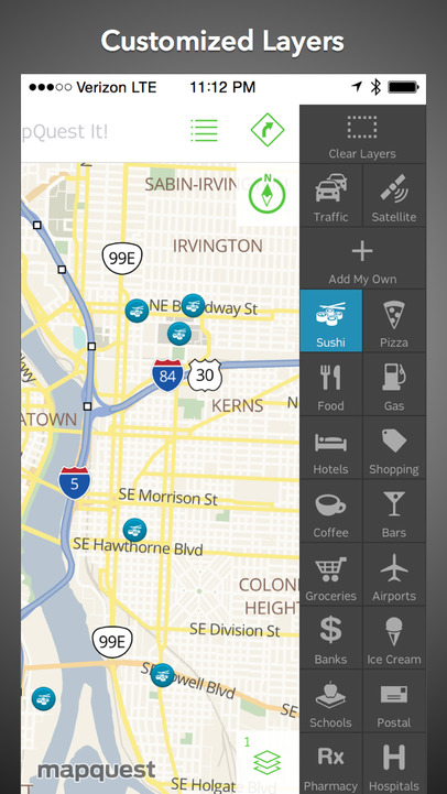 MapQuest: Free Navigation, GPS, Maps & Traffic - iPhone Mobile Analytics and App Store Data