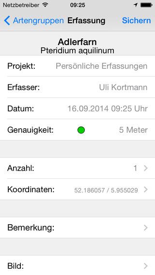 ArtenFinder iPhone Screenshot 3