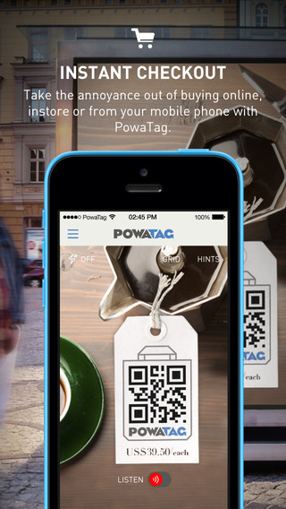 PowaTag – Shop anytime anywhere. Scan. Touch. Listen to buy instantly