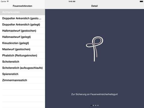 Feuerwehrknoten iPad Screenshot 4