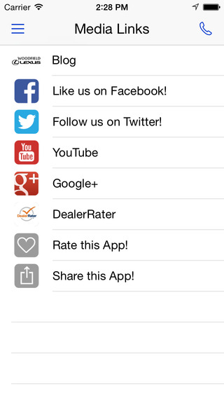 Woodfield Lexus iPhone Screenshot 5
