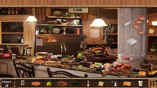 Hidden Objects:Messy Kitchen Hidden Object