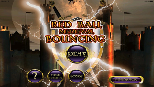 遊戲必備免費app推薦|Red Ball Medieval Bouncing PRO : Avoid Spikes線上免付費app下載|3C達人阿輝的APP