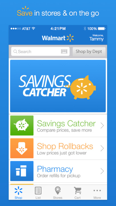 Walmart - Savings Catcher, Shopping and Pharmacy App - iPhone Mobile Analytics and App Store Data