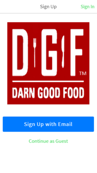 Darn Good Food Ordering