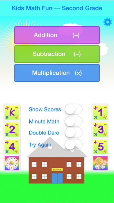 Kids Math Fun~Second Grade iPhone Screenshot 1