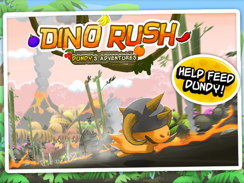 Dino Rush iPad Screenshot 1
