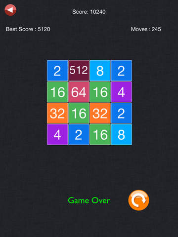 2048 - Exciting Math Board (2048,4096, 5*5) Puzzle Gamescreeshot 5