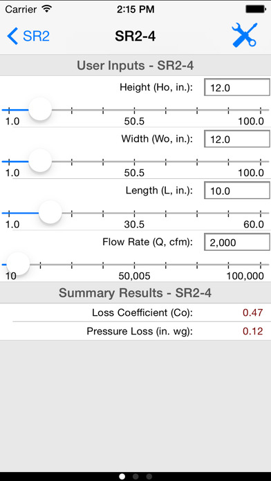 HVAC ASHRAE Duct Fitting Database iPhone Screenshot 2