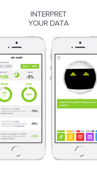 Optimized - Lifelogging and Quantified Self Improvement App Screenshots