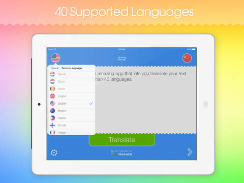 Smart Translator HD: Speech and text translation from English to over 40 languages