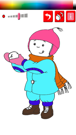 Coloring Game For Kids Caillou Edition