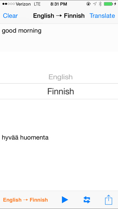 English Finnish Translator with Voice iPhone Screenshot 2