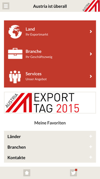 ExportService-App. Eine Anwendung der AUSSENWIRTSCHAFT AUSTRIA Wirtschaftskammer Österreich.