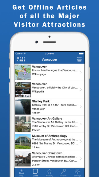 Vancouver Travel Guide Offline Map