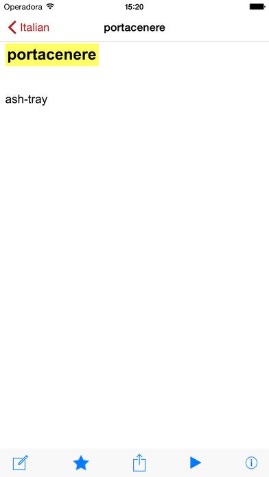 Dictionary English Italian English iPhone Screenshot 2