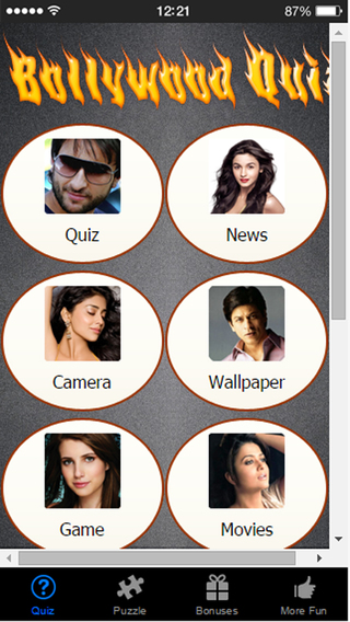 Bollywood Quiz - Test Indian Movie IQ via Film Song and Celebrity News Trivia
