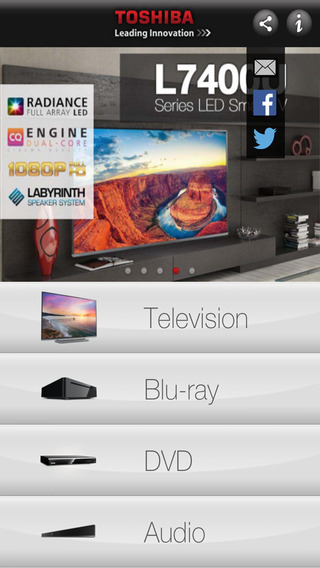 Toshiba TV Product Guide