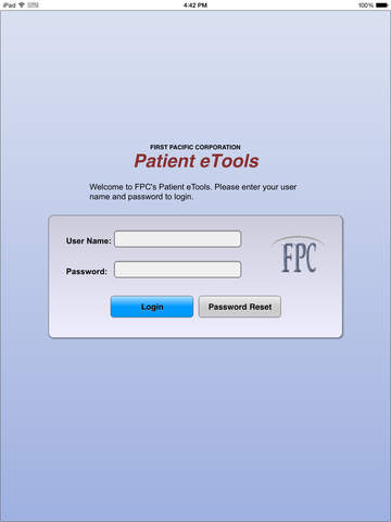 Patient eTools - Securely view patient account information