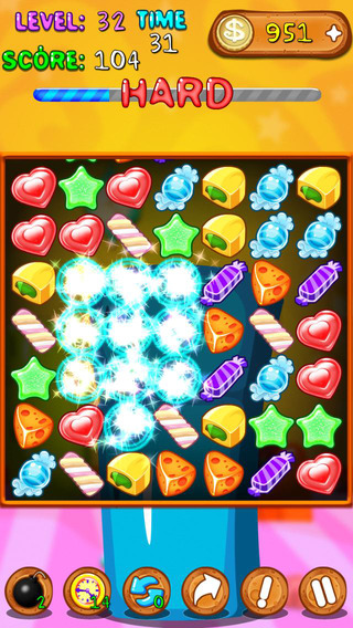 【免費遊戲App】Colorful Candy Move-APP點子