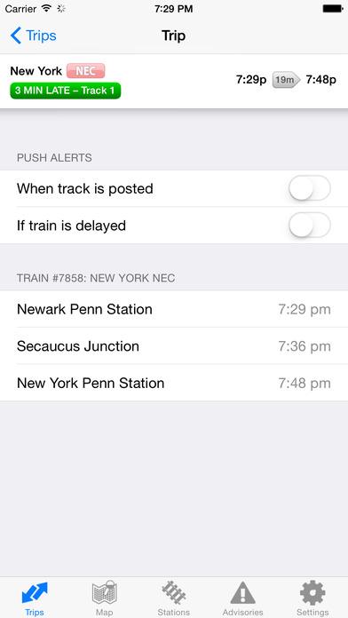 iTrans NJ Transit iPhone Screenshot 4
