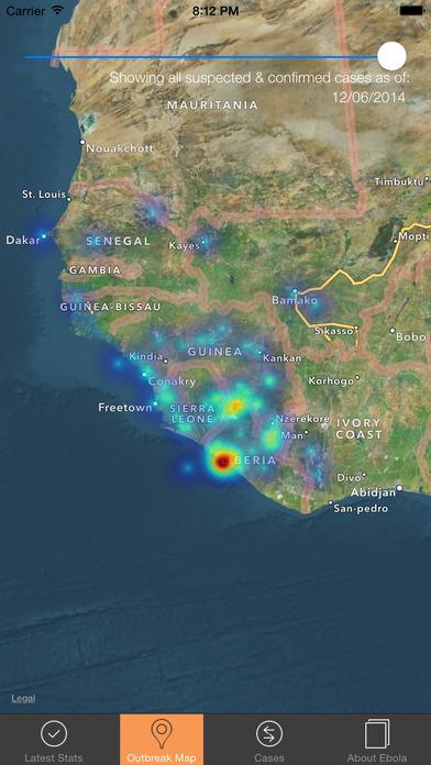 Ebola Tracker screenshot 1
