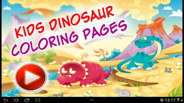 Kids dinosaur Coloring Pages