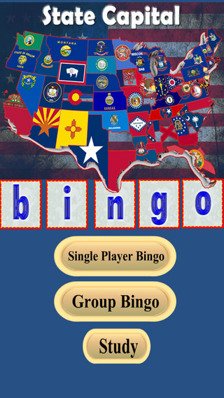 State Capital Bingo Lite