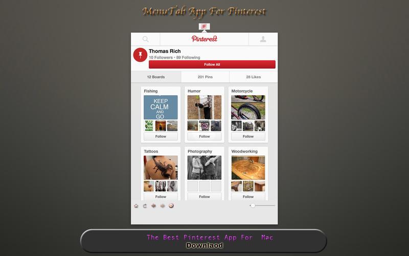 MenuTab App For Pinterest Screenshot - 1