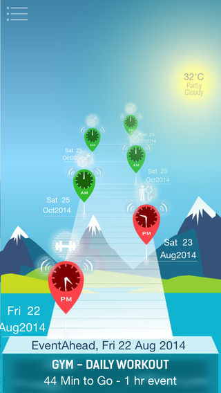 Event Ahead - Smart 3D Calendar for Facebook and iCal