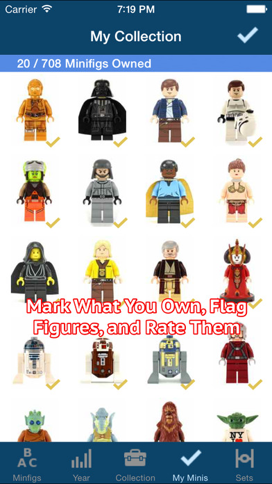 SWMinis - Minifig Collector iPhone Screenshot 2