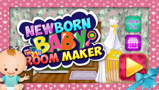 Newborn Baby Room Maker - Mommy and New baby care game for kids