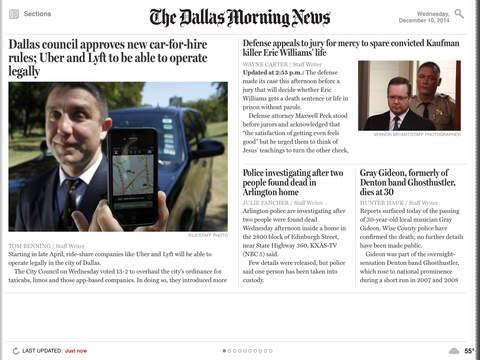 Dallas Morning News for iPad