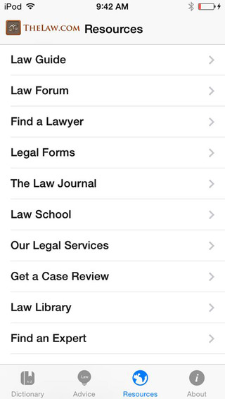 The Law Guide iPhone Screenshot 5