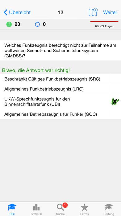 Funkschein UBI iPhone Screenshot 2