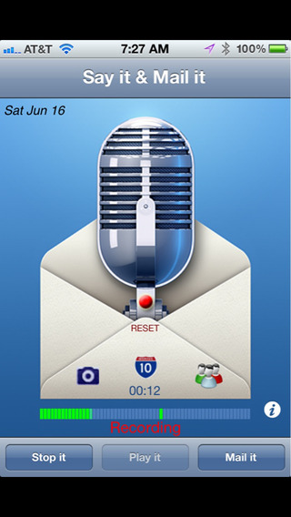 Say it & Mail it Recorder Screenshots