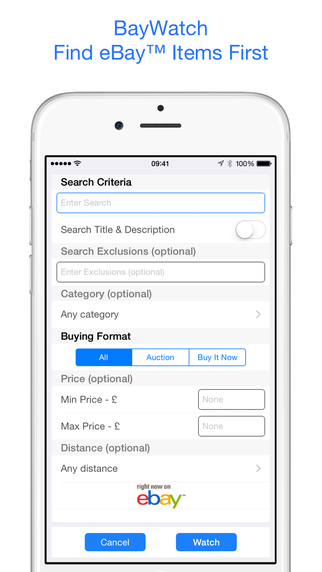 BayWatch New Item Alerts for eBay