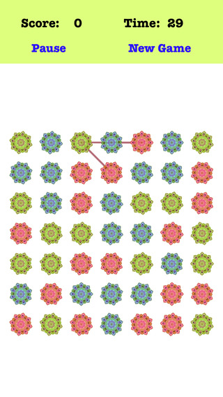 Classic Petal - Link the petals according to the order of the red green blue