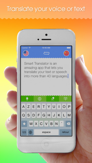 Smart Translator Free : Speech and text translation from English to Spanish and 40 foreign languages