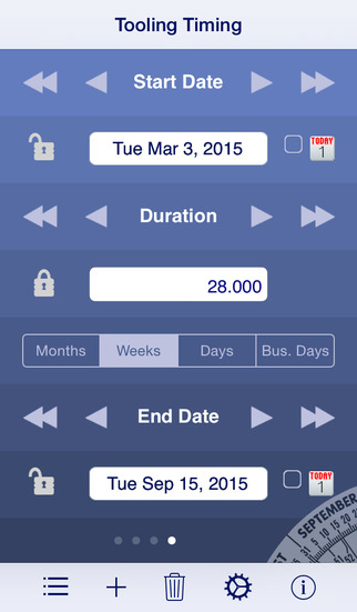 Date Wheel date calculator iPhone Screenshot 3
