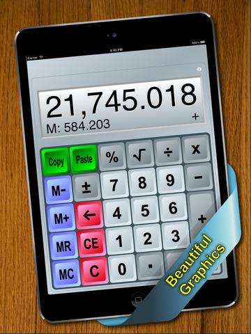 Split View Calculator for iPad screenshot 1