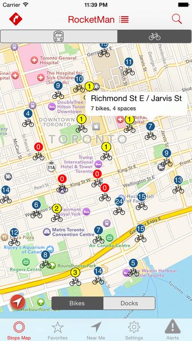 Rocket Man (TTC Streetcar schedules) iPhone Screenshot 5
