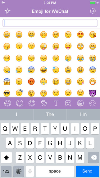 Emoji for WeChat - Unicode Smileys Stickers Characters Symbols Keyboard Emoticon Art for Texting