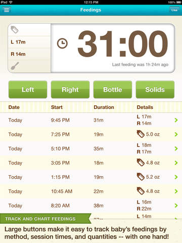 Baby Tracker & Digital Scrapbook   Kidfolio Pro with Tooth Chart screenshot