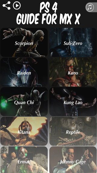 MK Moves for PS4 - Guide for Mortal Kombat X All Characters