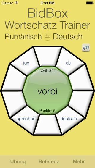 Vocabulary Trainer: German - Romanian iPhone Screenshot 4