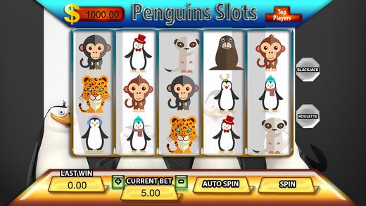 Penguins Mascar Slots - FREE Amazing Las Vegas Casino Games Premium Edition