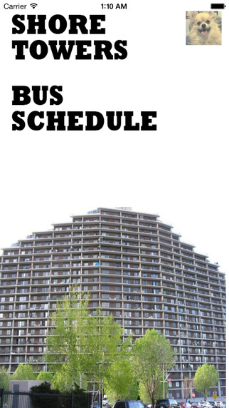 Shore Towers Bus Schedule